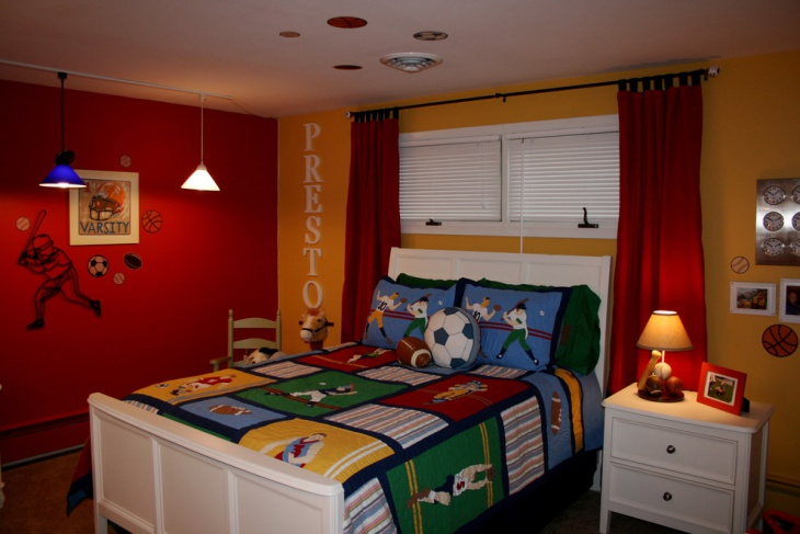 Kids Sport Bedroom Design