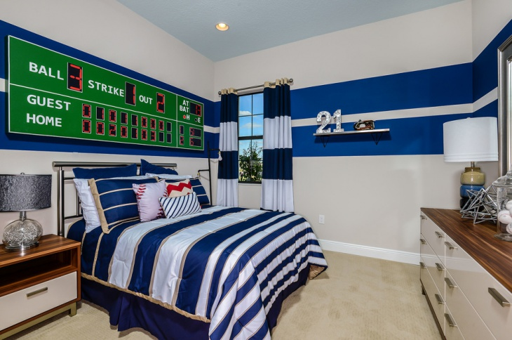 Blue Sport Bedroom Design