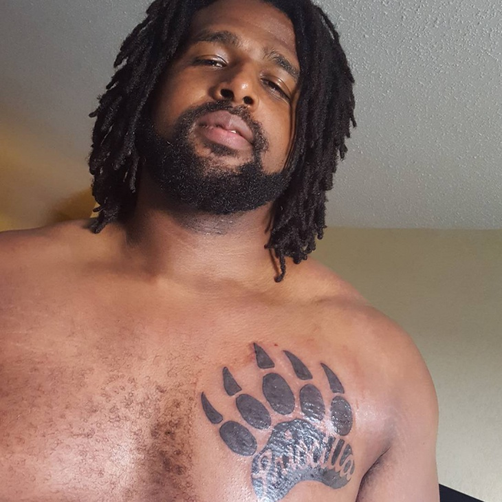 bear claw tattoo on chest