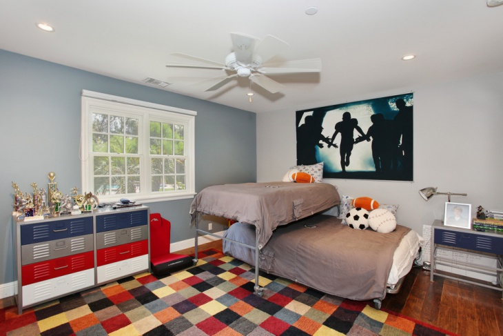 Transitional Space Sport Bedroom
