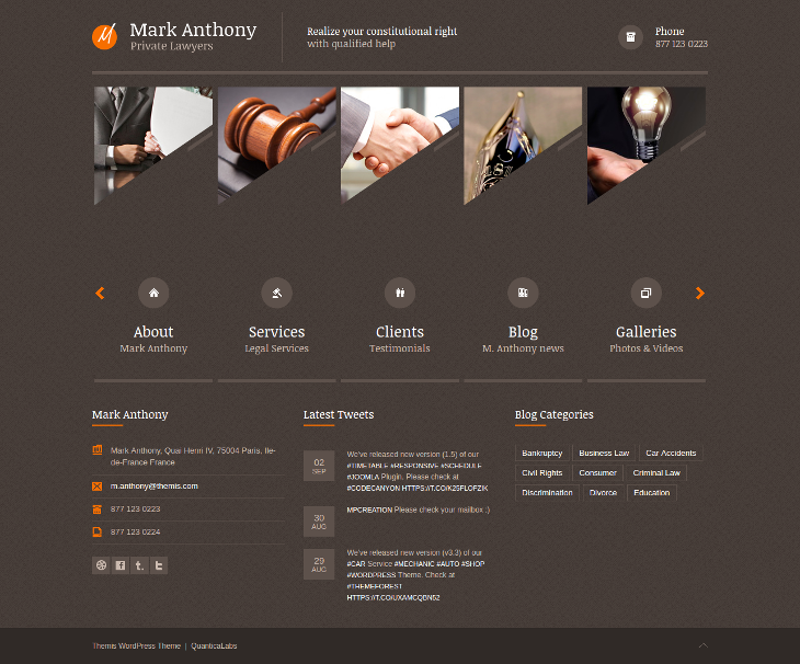 Law Lawyer Business WordPress Theme
