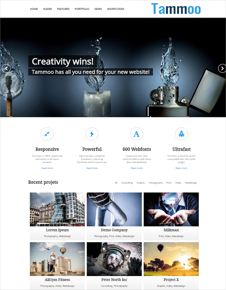 Clean Business WordPress Theme