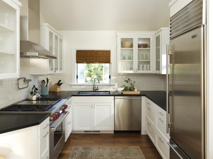 Contemporary Small U Shaped Kitchen