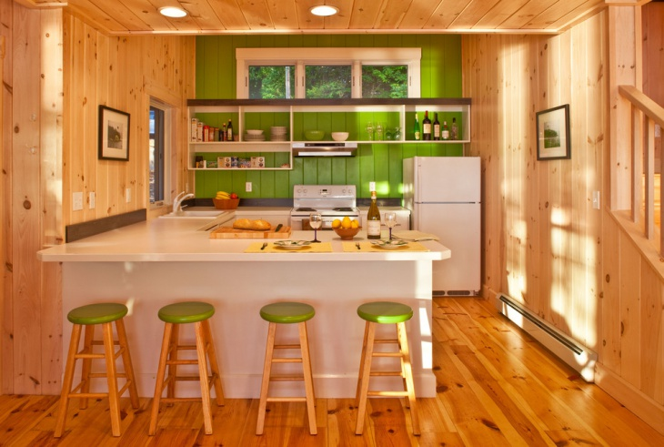 Rustic Small U Shaped Kitchen