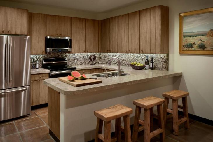 small u shaped kitchen cabinet
