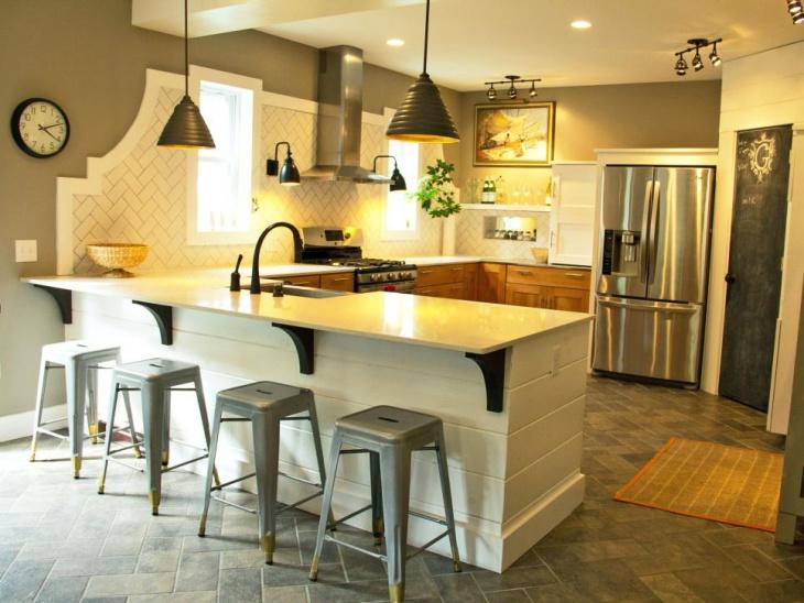 small traditional u shaped kitchen