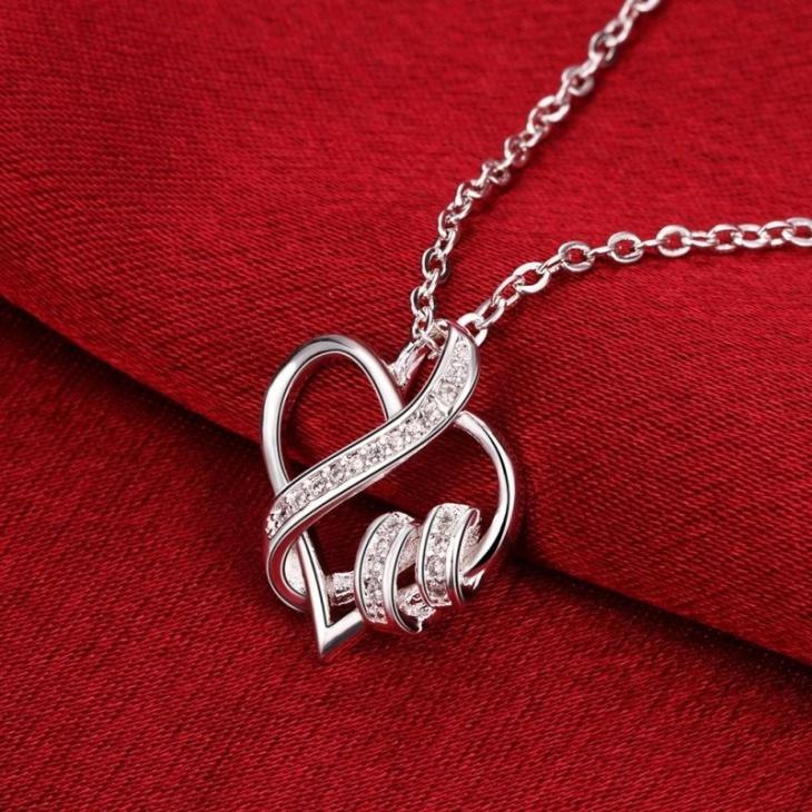 Heart Rhinestone Crystal Pendant