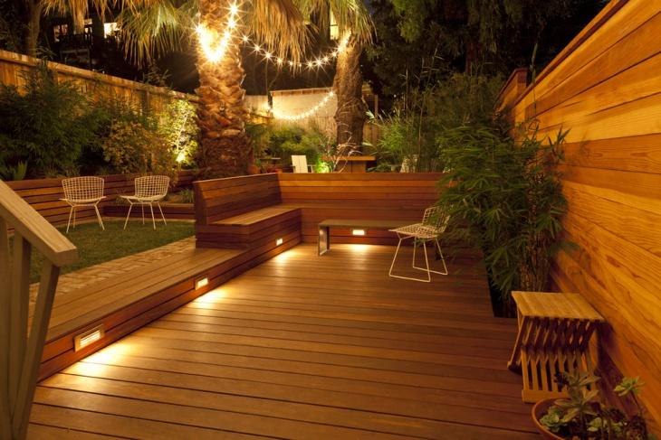 beach style deck lighting
