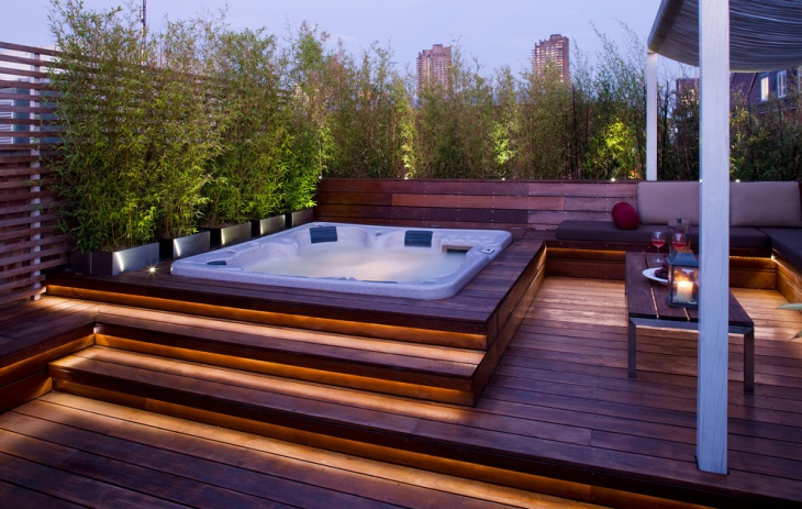 contemporary deck lighting
