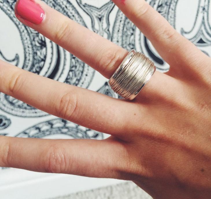 silver boho ring design