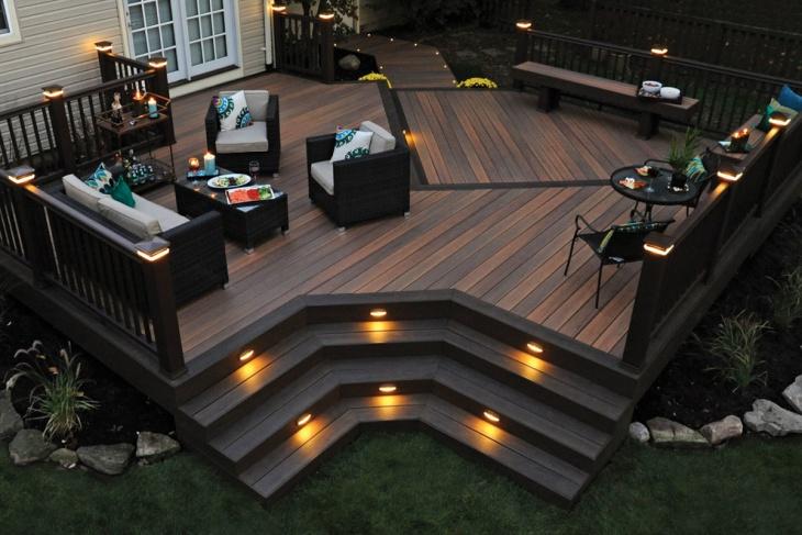 vintage deck lighting