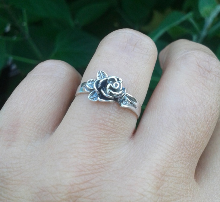 sterling silver boho ring
