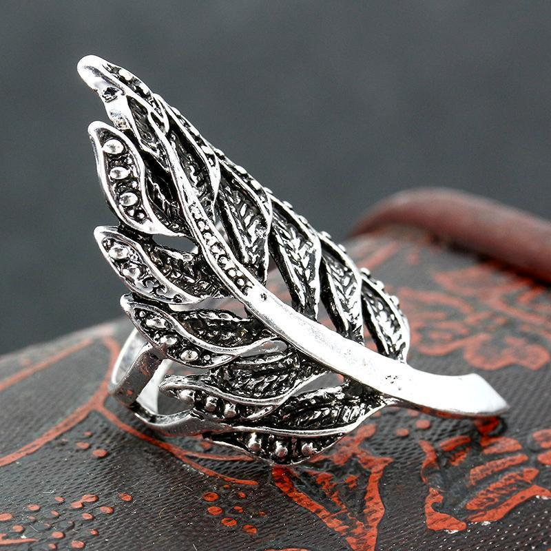 Boho Feather Ring