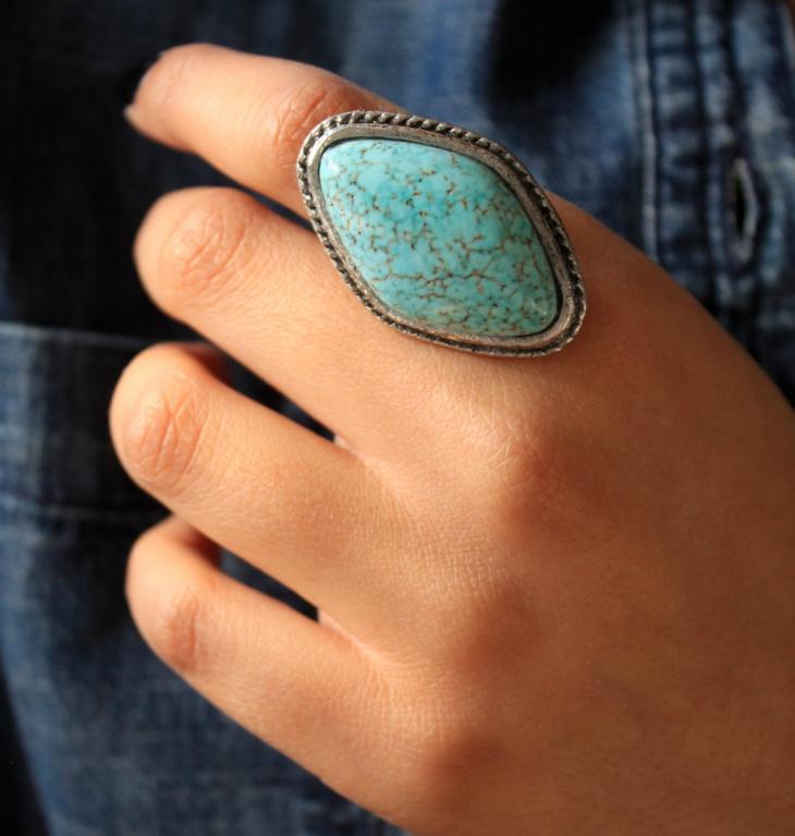 faux silver boho ring