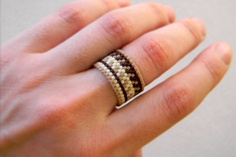 Wide Boho Band Ring