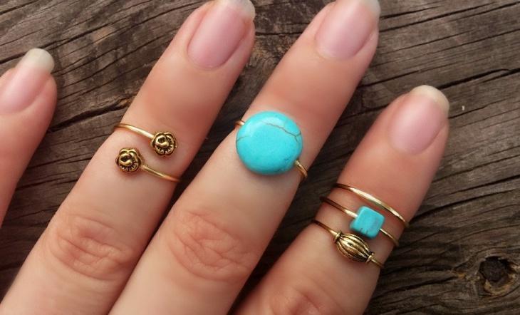 gold midi boho ring