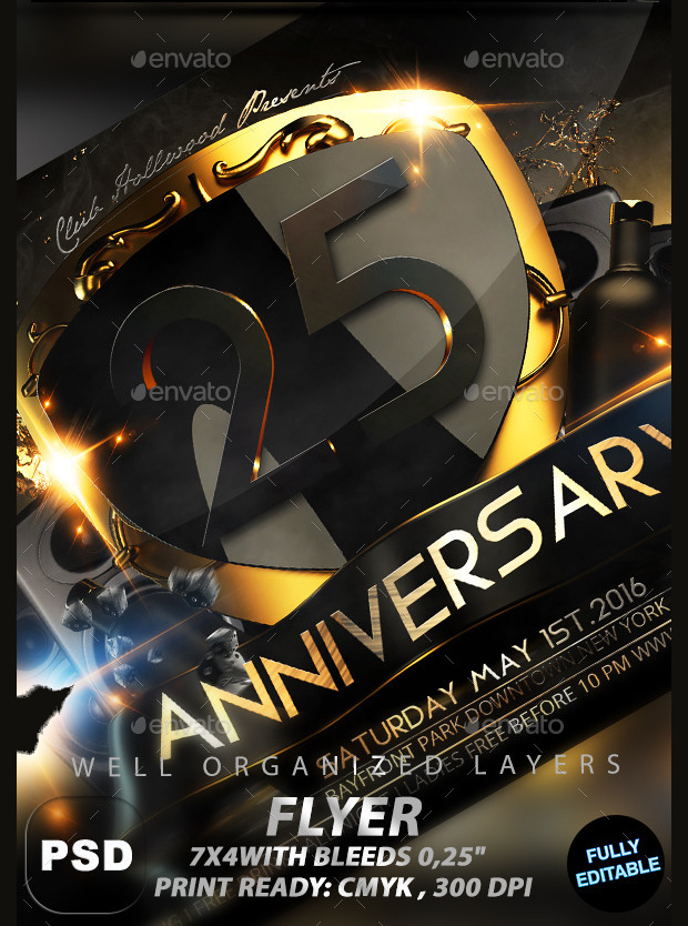 Anniversary Party Invitation Flyer