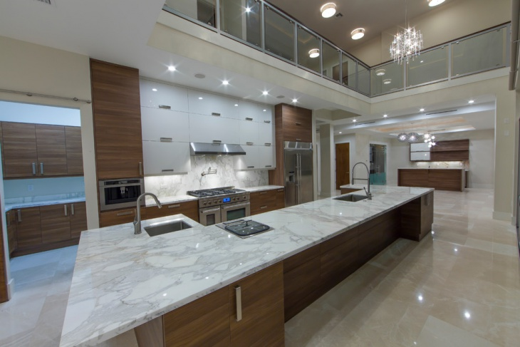 Modern Marble Kitchen Design