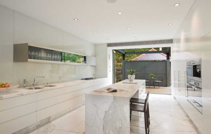 contemporary marble kitchen