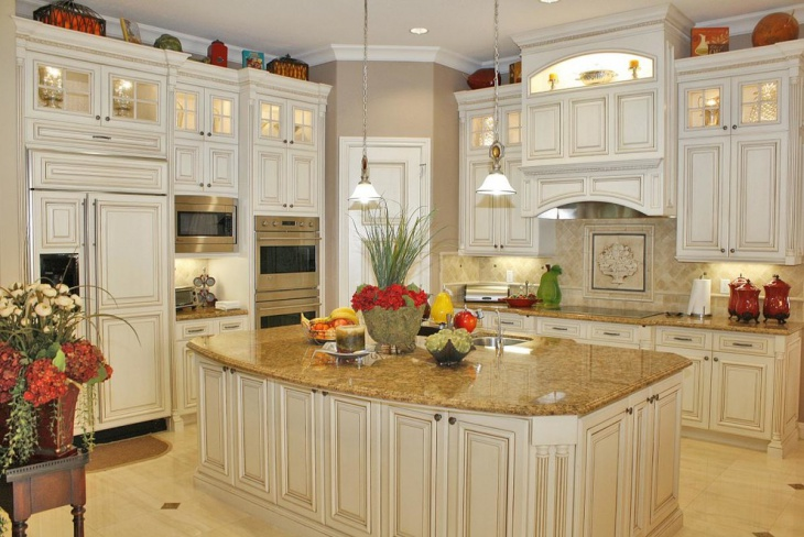 traditional marble kitchen design