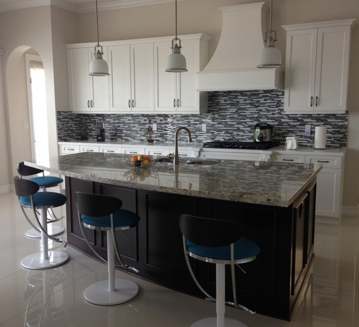 private marble mosaic kitchen