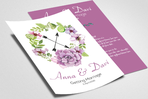 Wedding Invitation Flyer Design