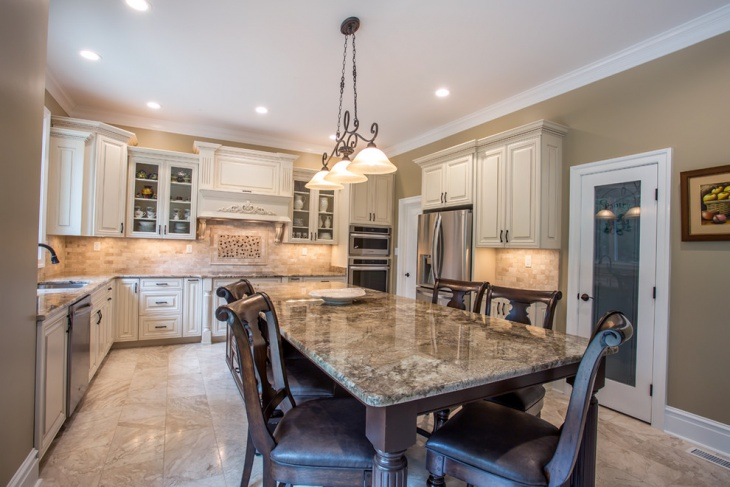 marble country kitchen design