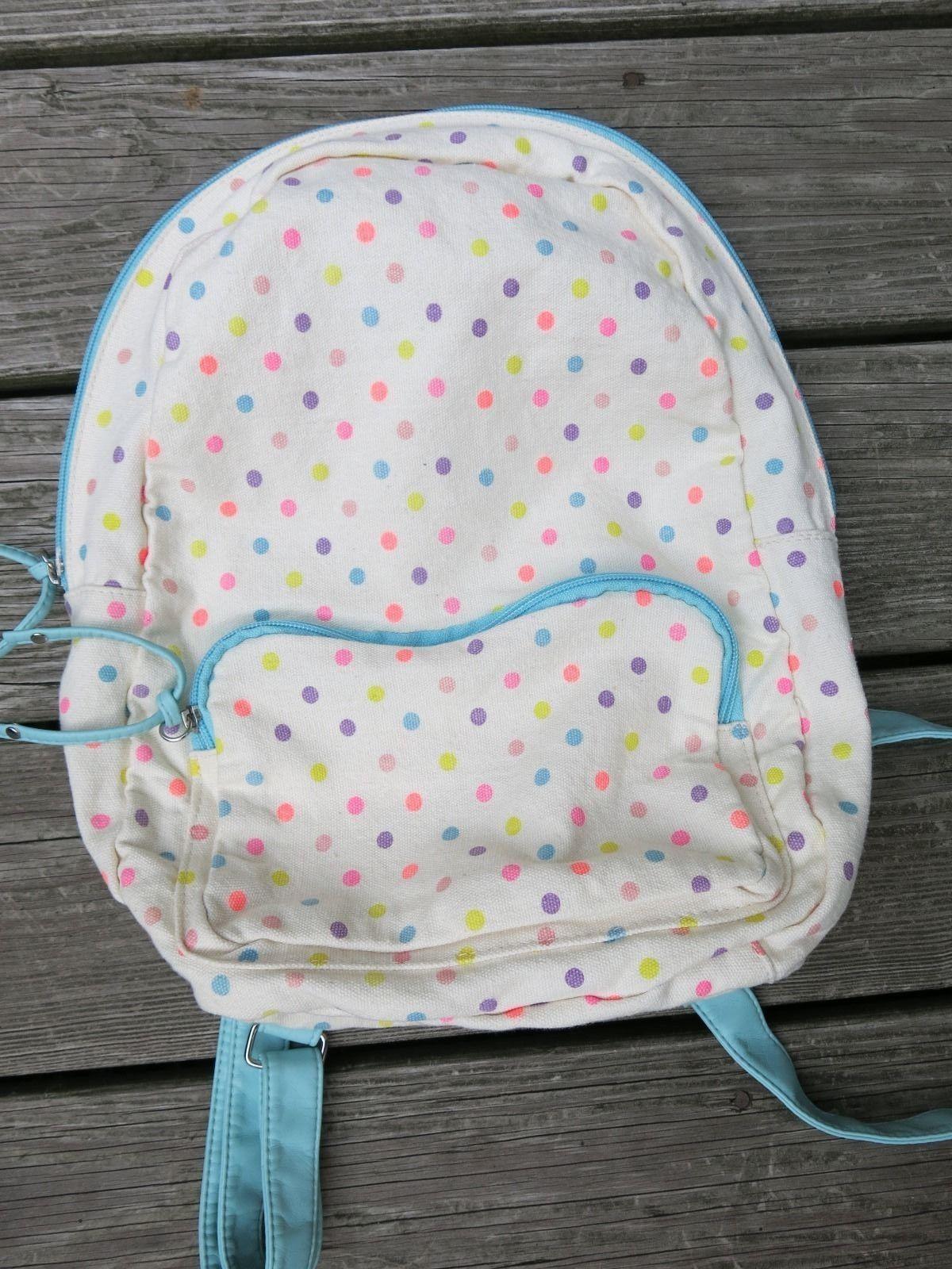 Polka Dot Canvas Backpack