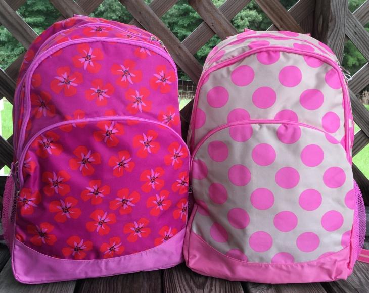 floral polka dot backpack