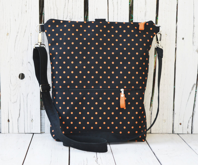vegan city polka dot backpack