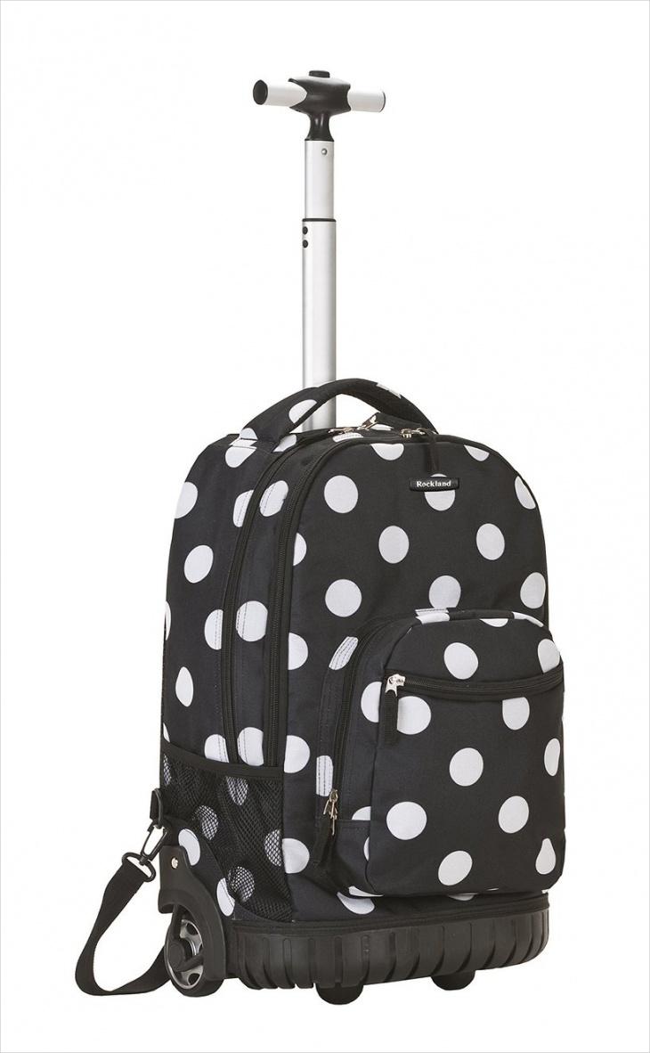 polka dot rolling backpack1