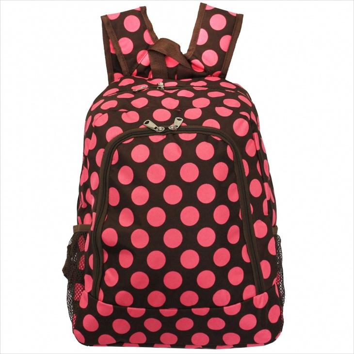 polka dot mesh backpack1