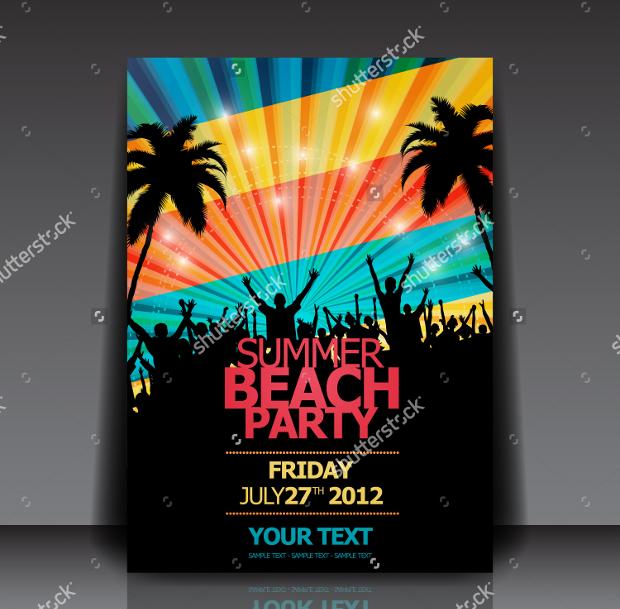 Retro summer party Flyer design