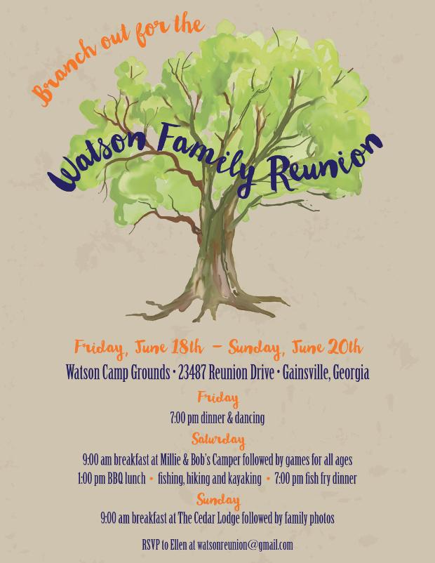 Family Re-union Invitation Flyer