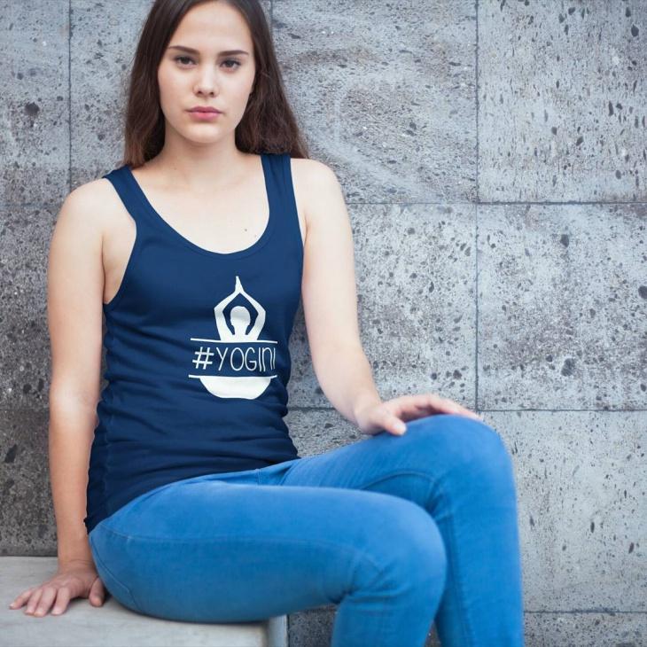 yoga symbol t shirt