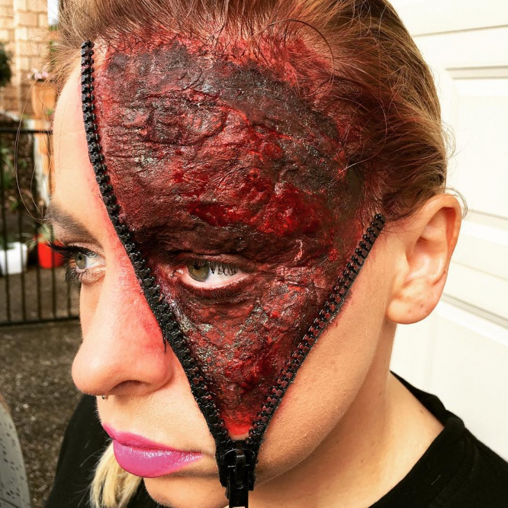 Horror Zip Face Makeup