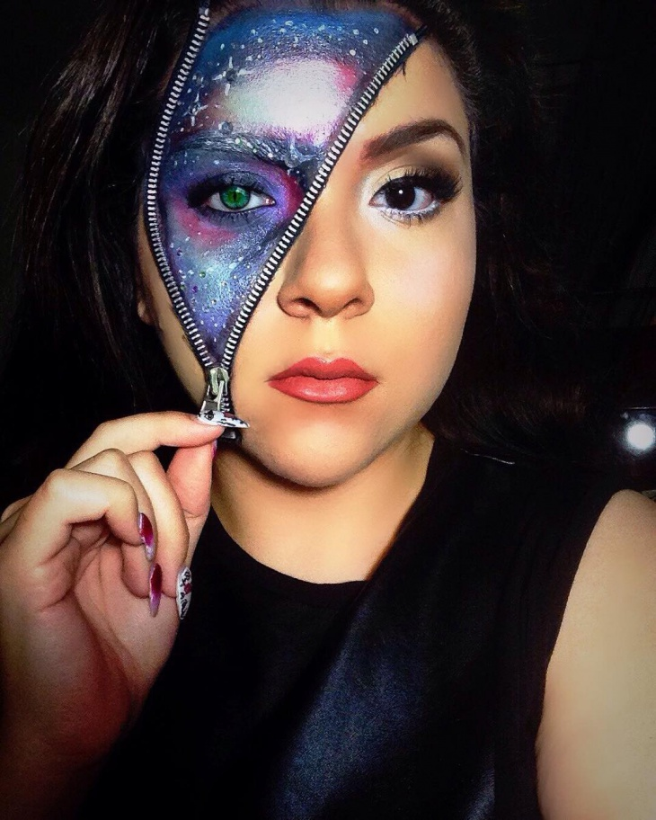 Colorful Zipper Makeup Idea