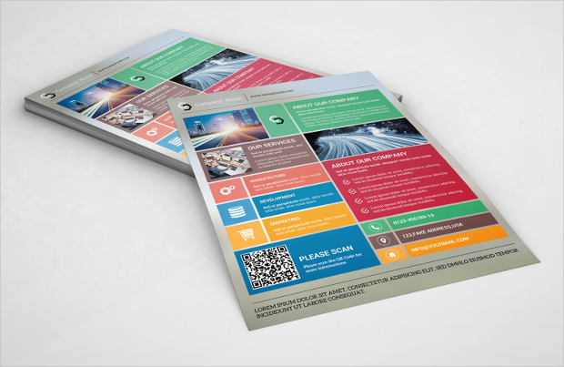 Metro Style Corporate Flyer Template