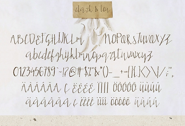 rustic handwriting font