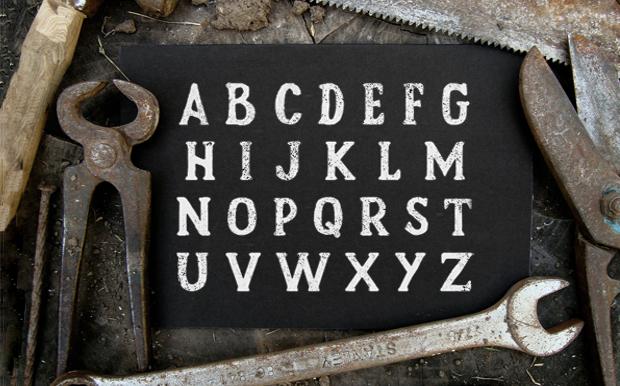 vintage rustic font