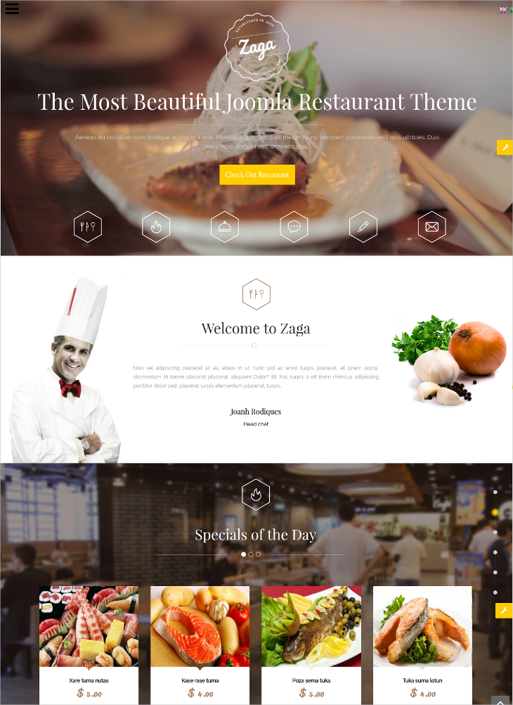 Professional Responsive Onepage Design Joomla Template