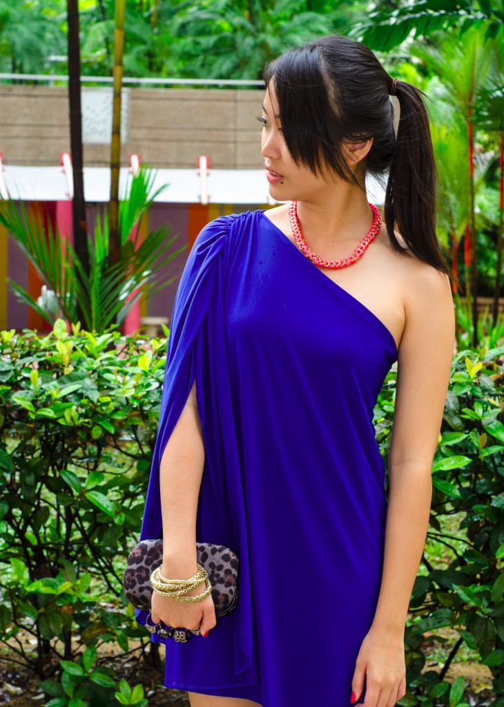 Blue Short Toga Dress