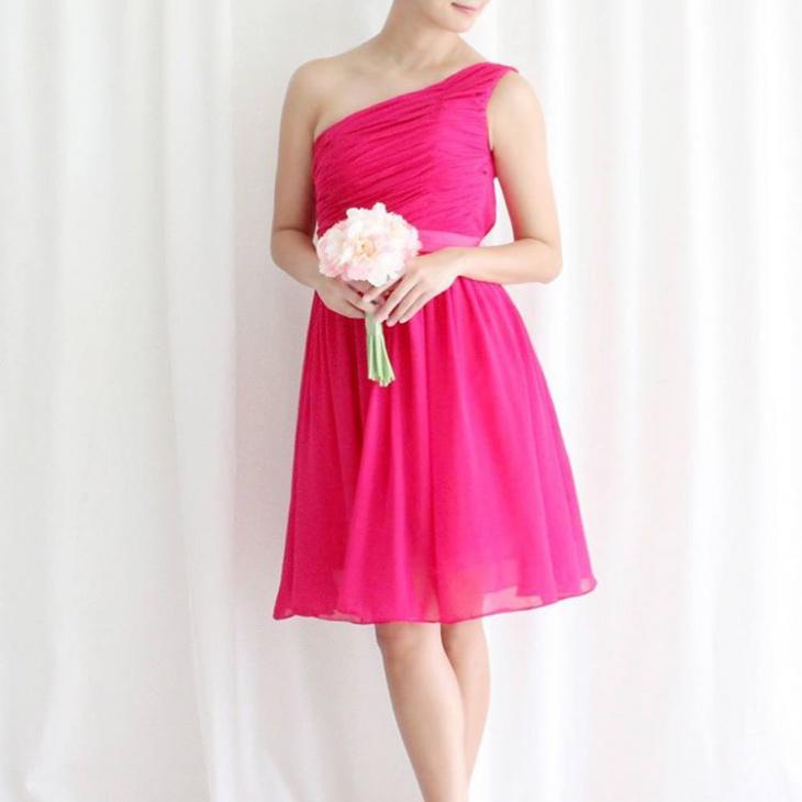 Pink Toga Dress Design