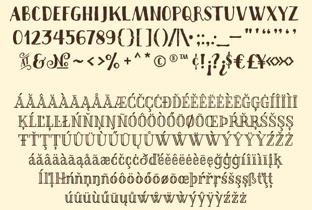 thankful rustic font