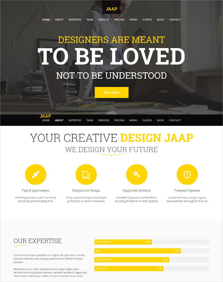 Creative Onepage Joomla Template