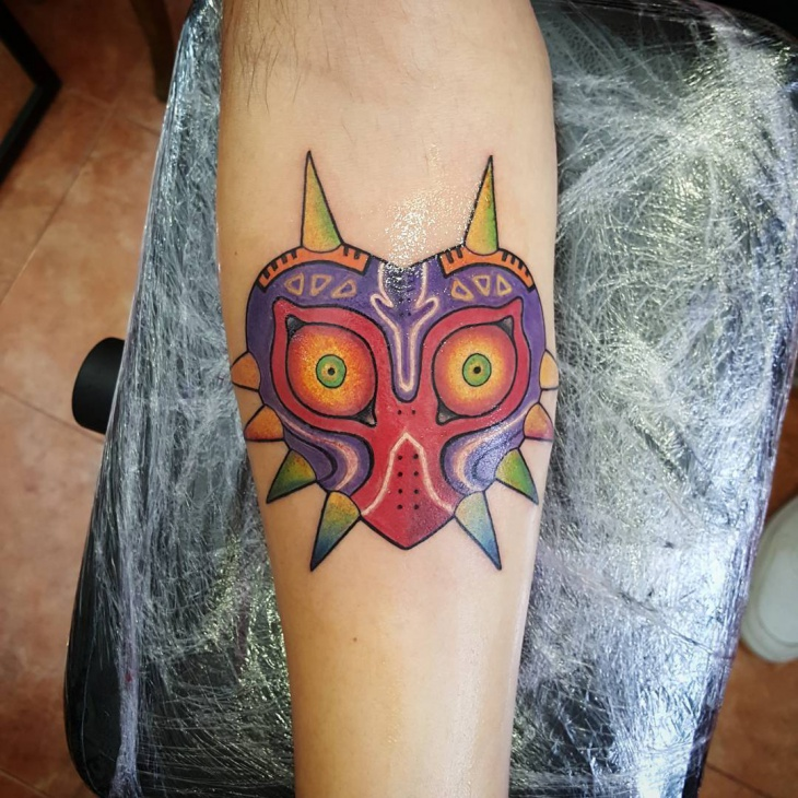 colorful zelda tattoo idea
