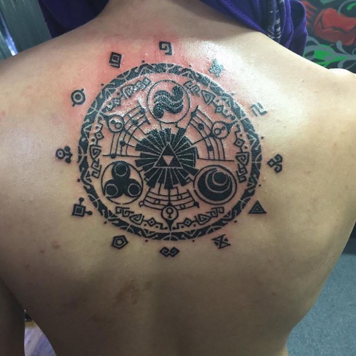 zelda tattoo for back