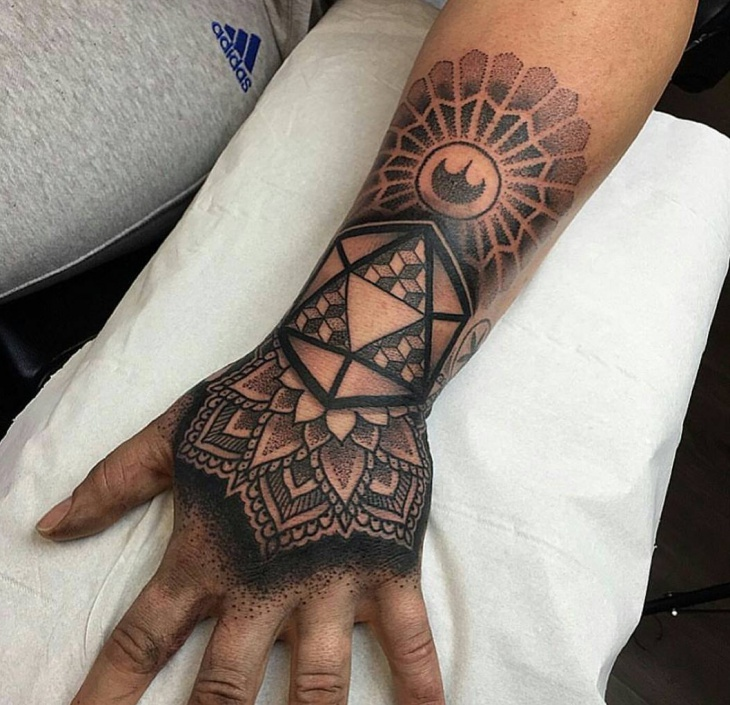 black work zelda tattoo