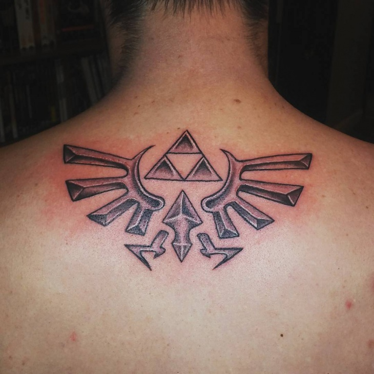 zelda tattoo for bellow neck
