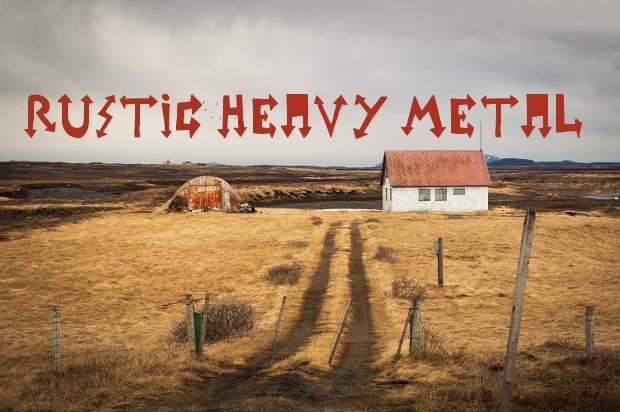 rustic heavy metal font